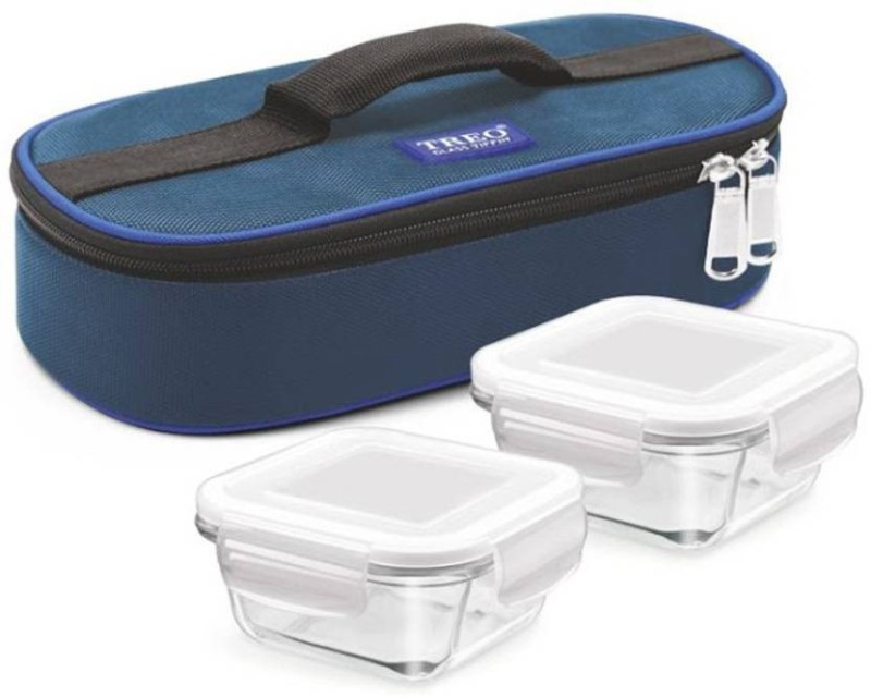 Treo Health First Square 2 Containers Lunch Box (300 ml) 2 Containers Lunch Box(600 ml)
