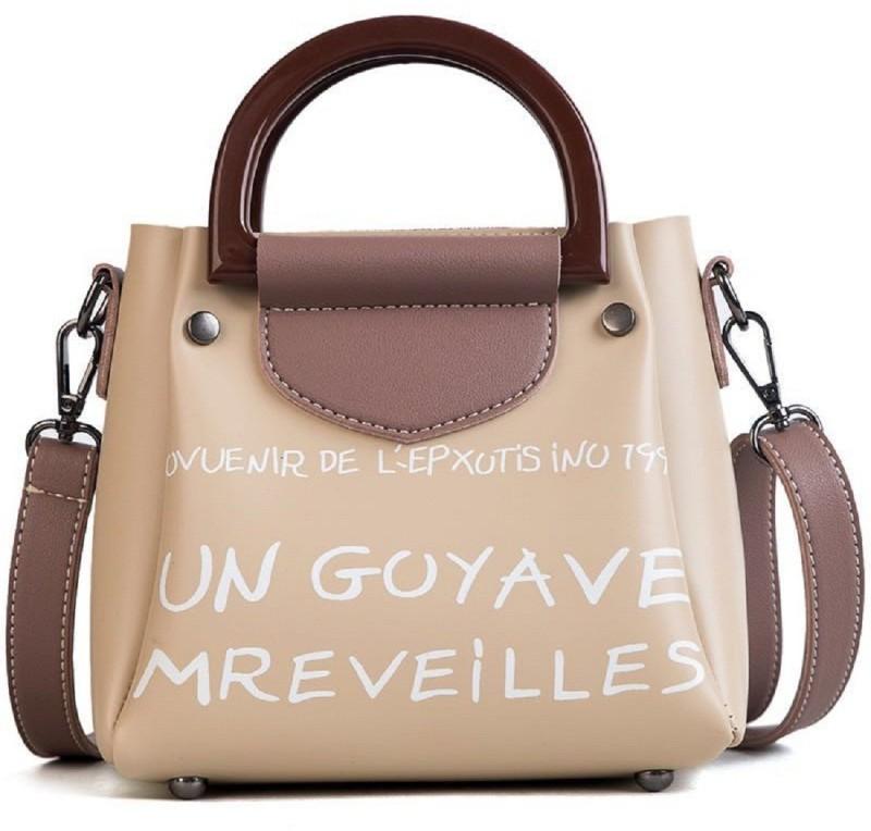 Mei&Ge Beige, Brown Sling Bag