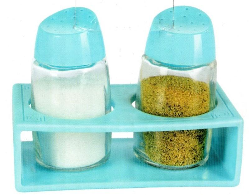 SMART SKILL HOME UTILITY BLUE SALT PEPPER SHAKER WITH RACK Sugar Sprinkler Shaker 150 gm