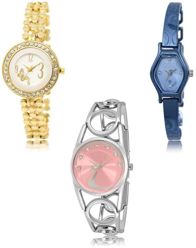 Radhe Fashion LR-203-218-233 New latest Designer Combo of 3 Analog Watch  - For Women