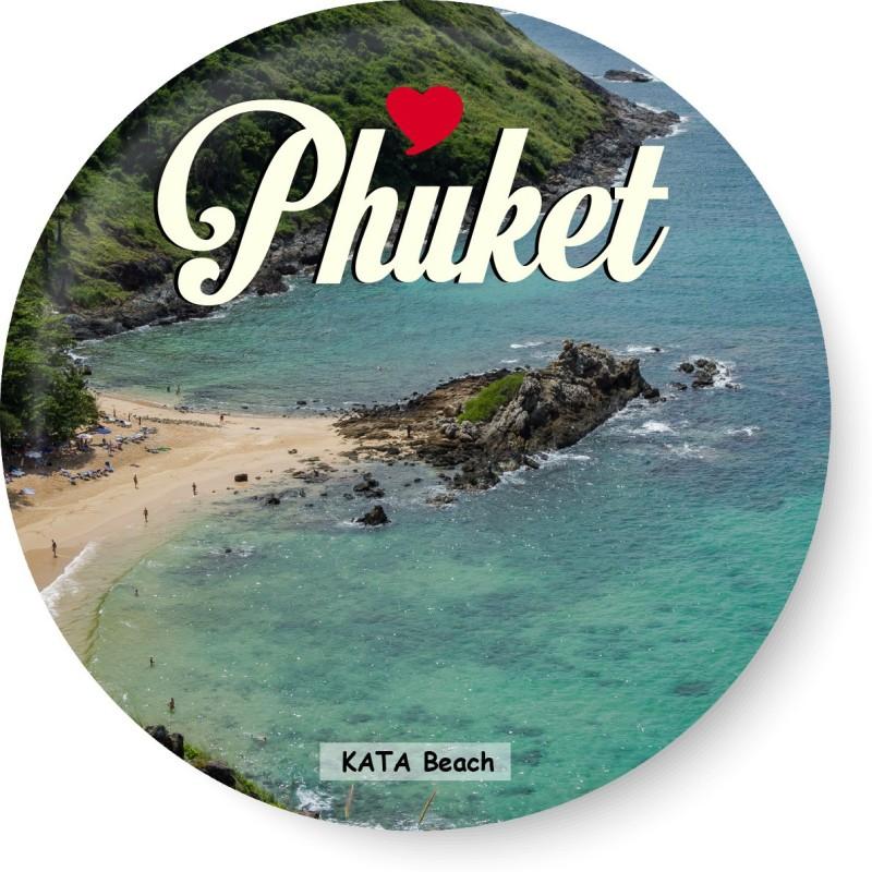 PEACOCKRIDE Love Phuket I Kata Beach I Thailand Diaries I Travel Memories I Fridge Magnet Pack of 1(Multicolor)
