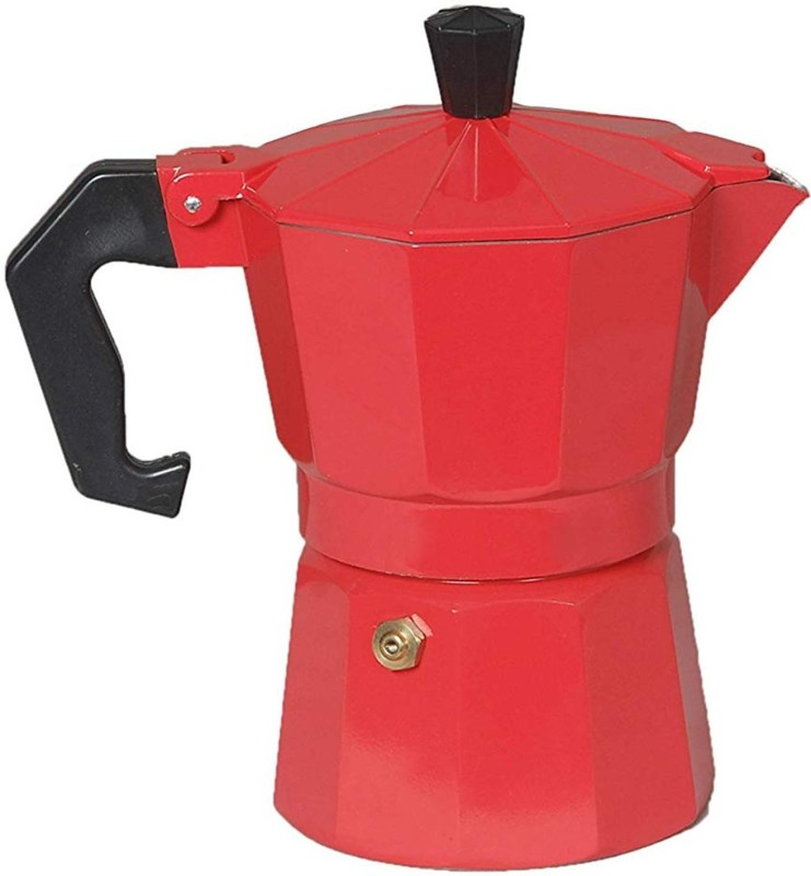 3dcreations Red_01 2 Cups Coffee Maker(Multicolor)