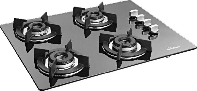Sunflame 4B HOB MANUAL Glass Manual Gas Stove(4 Burners)