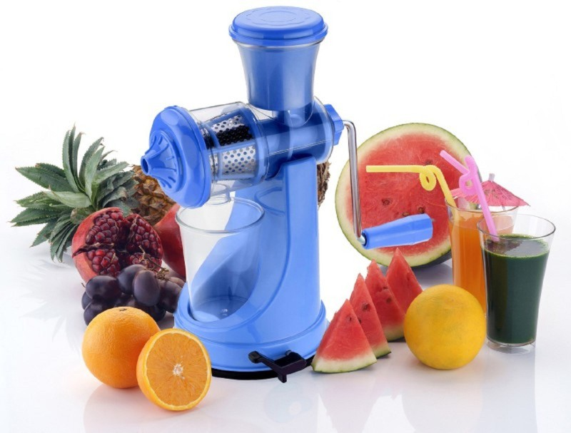 Tryviz Fruit And Vegetable Juicer With Steel Handle Plastic Hand Juicer(Multicolor Pack of 1)