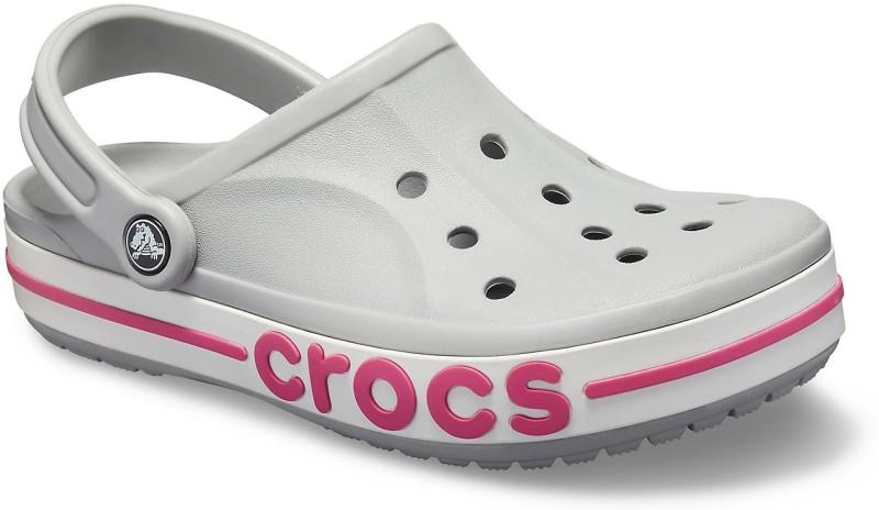 Crocs Men Light Grey/Candy Pink Sandals
