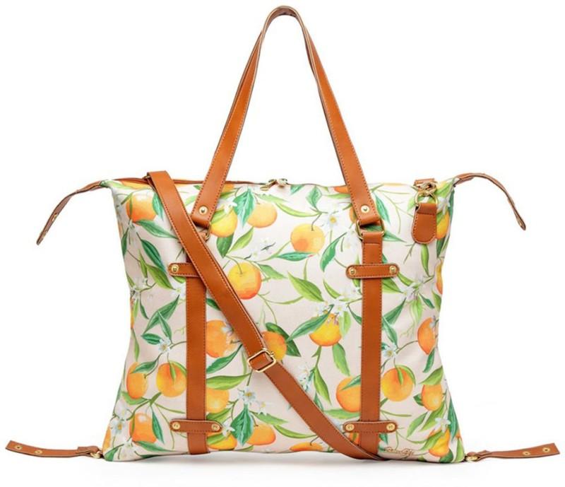 Band Box White, Green, Orange Shoulder Bag