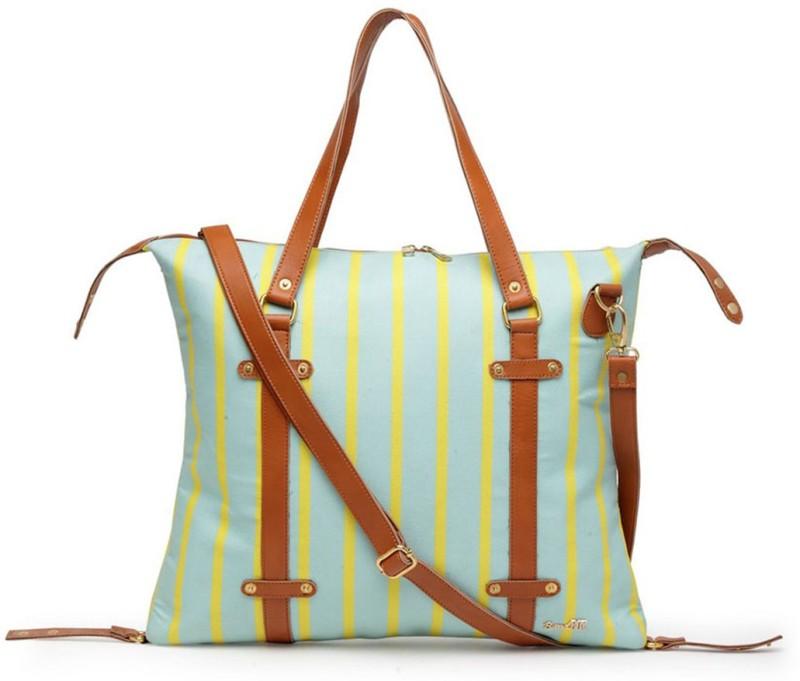 Band Box Blue, Yellow Shoulder Bag