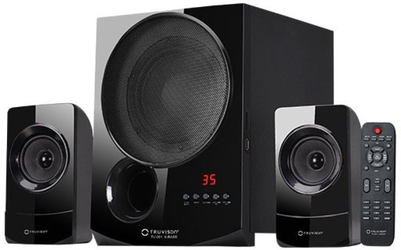 Truvison TV-001 X-Bass 2.1 Channel Music System with USB FM AUX MMC Superior Sound Clarity Bluetooth Home Theatre(Black, 2.1 Channel)