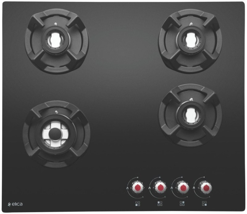 Elica CLASSIC BRASS 4B 60 Hob Stainless Steel Automatic Gas Stove(4 Burners)