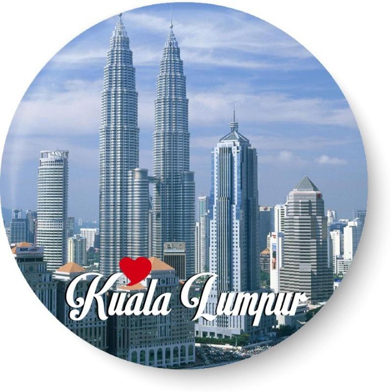 PEACOCKRIDE Love Kuala Lumpur I Malaysia Diaries I Fridge Magnet Pack of 1