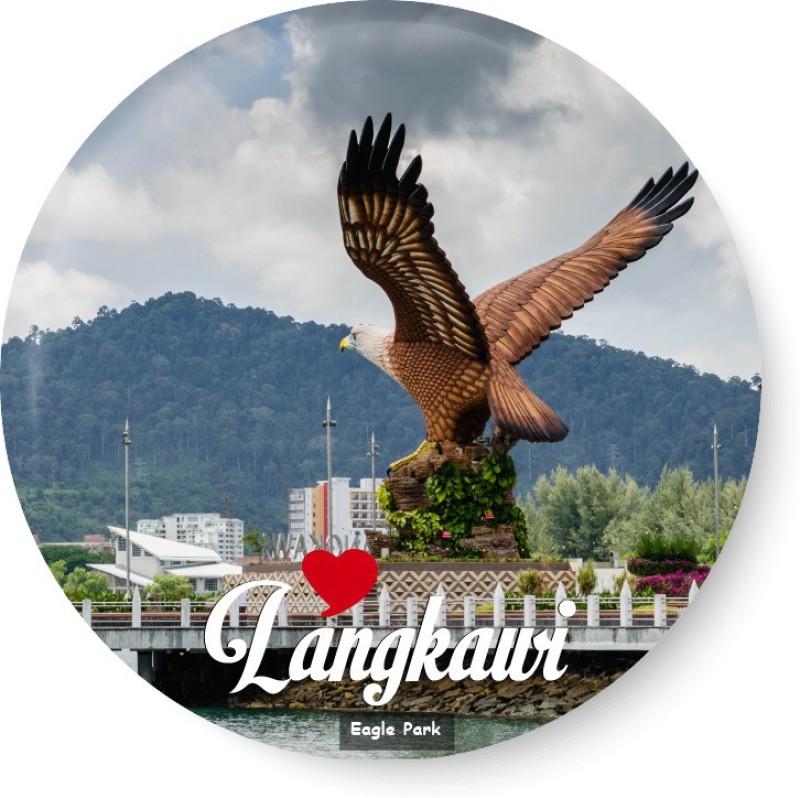 PEACOCKRIDE Love Langkawi I Eagle Park I Malaysia Diaries I Fridge Magnet Pack of 1(Multicolor)