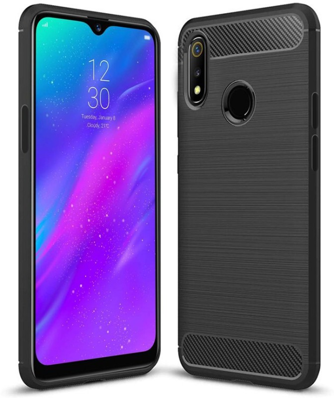 Flipkart SmartBuy Back Cover for Realme 3, Realme 3i(Black)