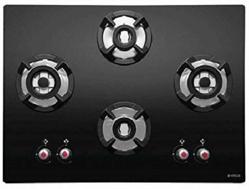 Elica CLASSIC FLEXI HCT 4B 70 DX Hob Stainless Steel Automatic Gas Stove(4 Burners)