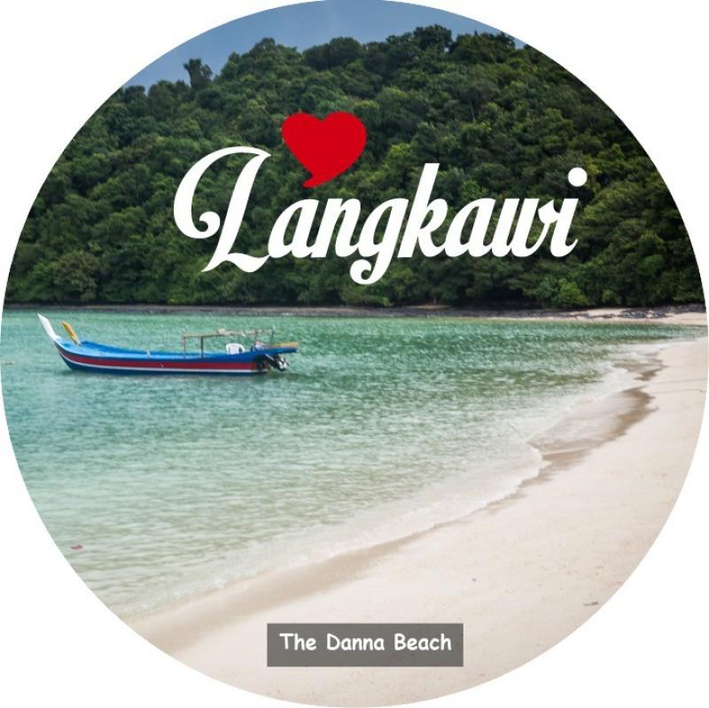 PEACOCKRIDE Love Langkawi I The Danna Beach I Malaysia Diaries I Fridge Magnet Pack of 1(Multicolor)