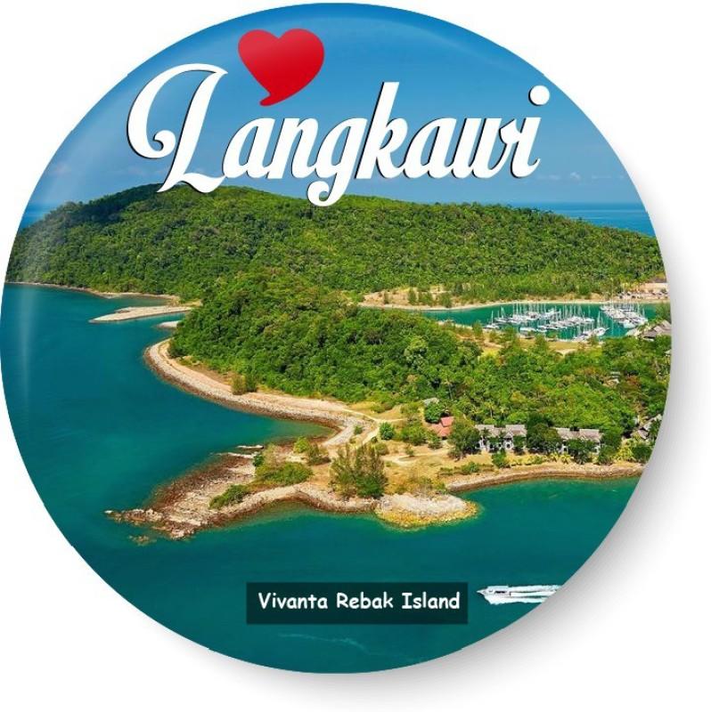 peacockride Love Langkawi I Vivanta Rebak Island I Malaysia Diaries I Fridge Magnet Pack of 1(Multicolor)