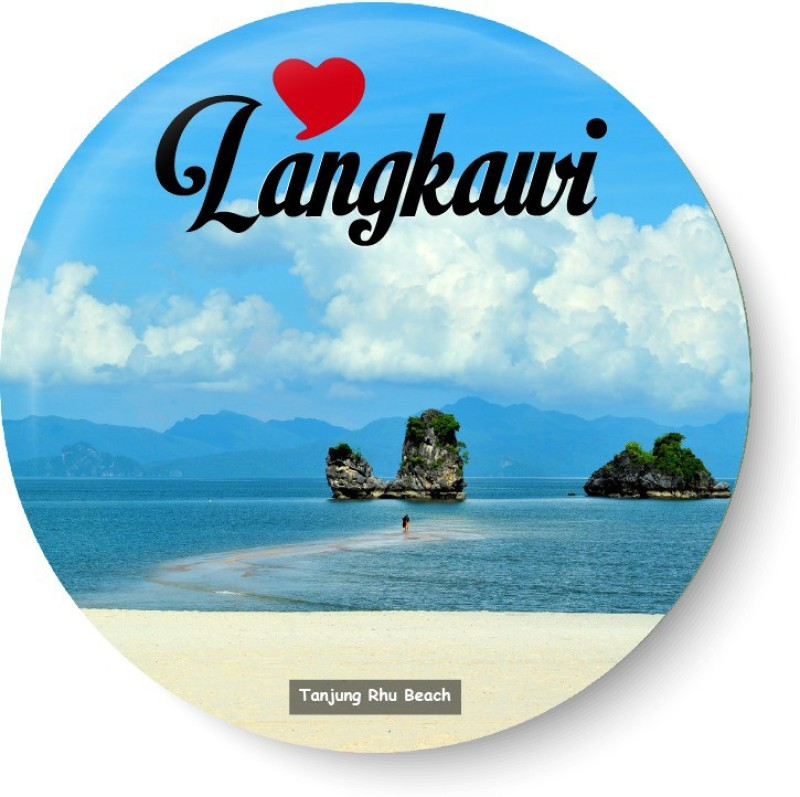 PEACOCKRIDE Love Langkawi I Tanjung Rhu Beach I Malaysia Diaries I Fridge Magnet Pack of 1(Multicolor)