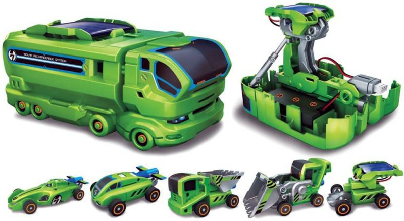 Bonkerz Educational 7 In 1 Solar Rechargeable Robot Car Toy