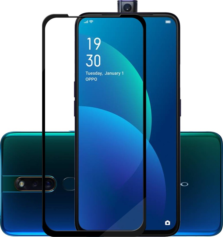 Hupshy Edge To Edge Tempered Glass for Oppo F11 Pro(Pack of 1)