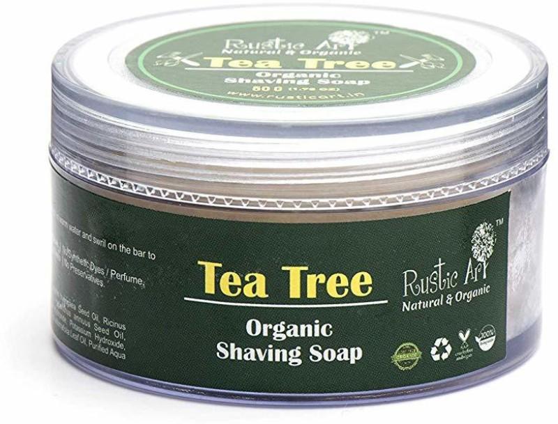 Rustic Art Tea Tree Shaving Soap Shaving Soap(50 g)