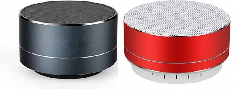 mobifox COMBO A10 Mini Metal Aluminium Alloy Portable Bluetooth Speaker (BLACK, RED 3.1 Channel) 3 W Bluetooth Speaker(Black, Red, 2.1...