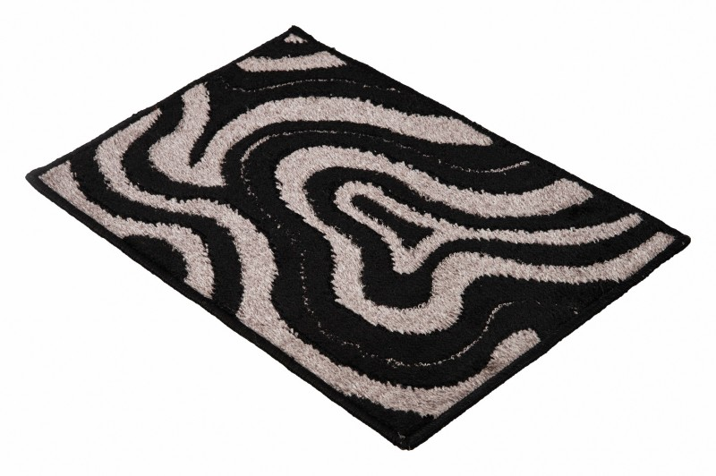 Sprint Polyester Door Mat(Black, Small)