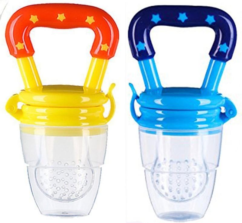 ae Silicone Baby fruit Feeder BPA Free Food Feeder Silicone Food Nibbler Food Feeder(Blue, Yellow)