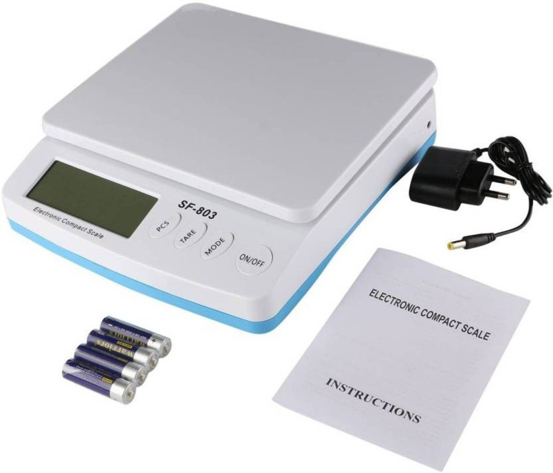 VBR's group 30Kg x 1g (10mG) SF-803 Digital Weighing Scale, ALL TYPE 30KG Weight Measuring machine Weighing Scale(White)