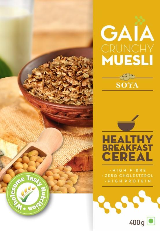GAIA Crunchy Muesli Soya with Zero Trans Fat(400 g, Vacuum Pack)