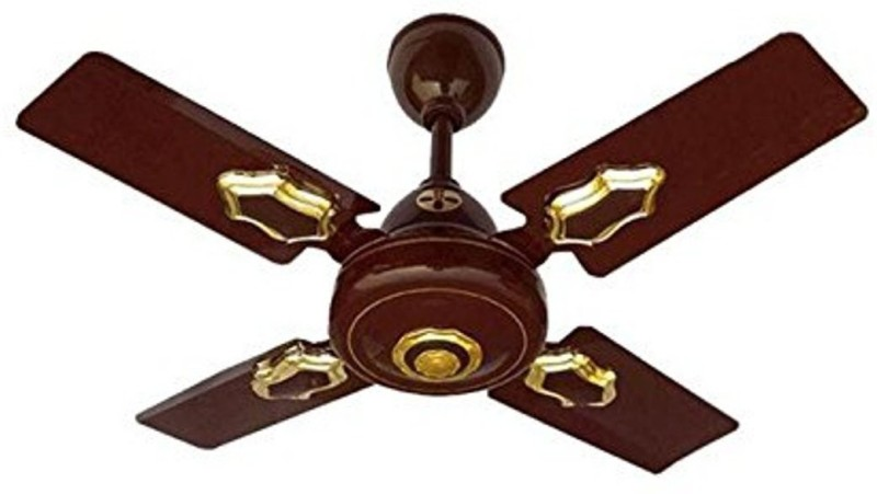 "MinMAX 24"" CLASSIC DLX 600 mm 4 Blade Ceiling Fan(BROWN, Pack of 1)"