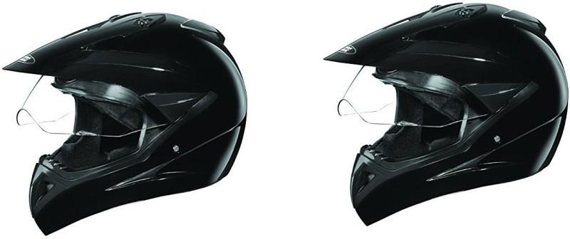 Studds Motocross Plain SUS_MVPFFH Motorbike Helmet(Black)