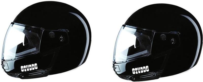 Studds Ninja Pastel Plain SUS_NPPFFH Motorbike Helmet(Black)