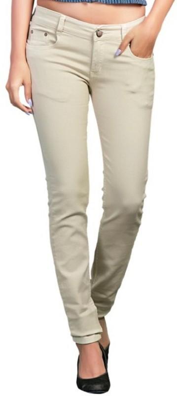Adbucks Slim Women Beige Jeans