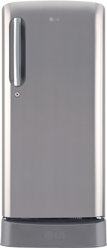 LG 190 L Direct Cool Single Door 5 Star Refrigerator with Base Drawer(Shiny Steel, GL-D201APZY)