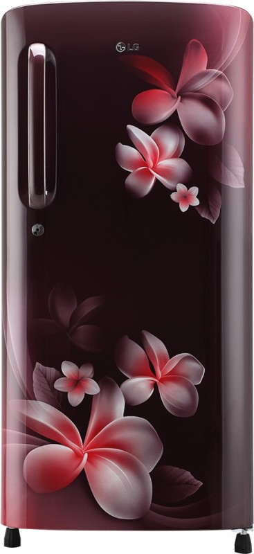LG 190.0 L Direct Cool Single Door 5 Star Refrigerator(Scarlet Plumeria, GL-B201ASPY)