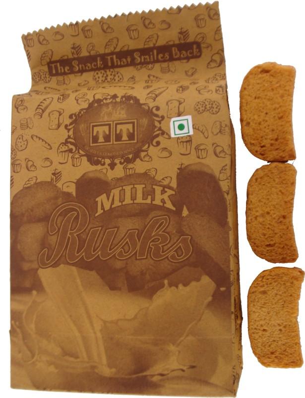 TT Handmade MILK RUSK Cookies (PACK OF 8) NA flavored Milk Rusk(8 x 350 g)