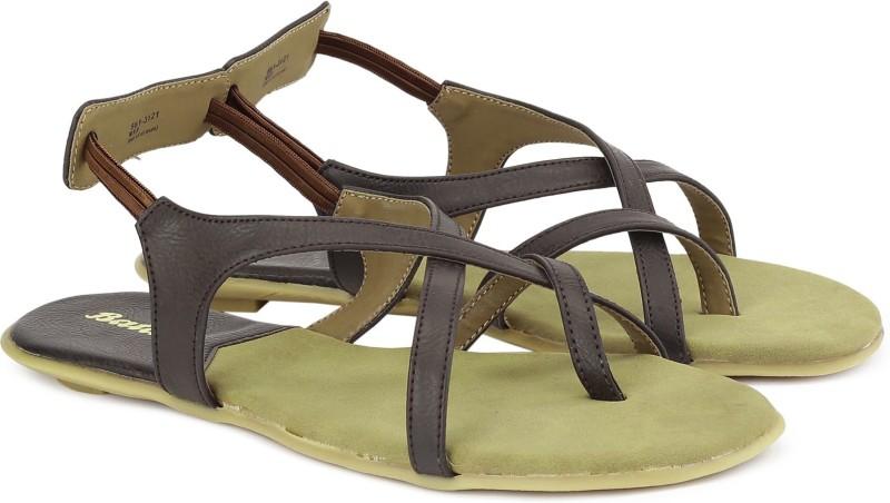 Bata Westwood Sandal Women Women Brown, Grey Flats