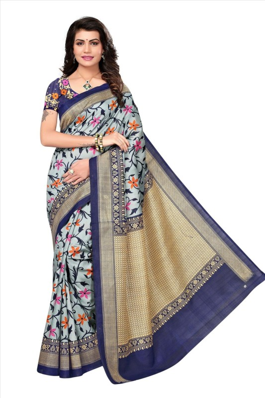 Fabwomen Printed Fashion Art Silk Saree(Multicolor)