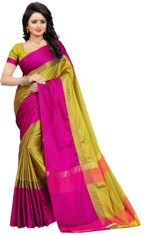 HITESH ENTERPRISE Self Design Fashion Poly Silk Saree(Mustard)