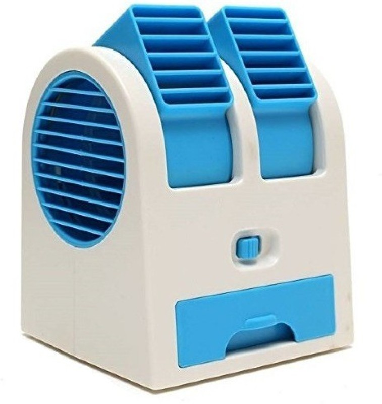 Teconica Dual Bladeless Small Air Conditioner Cooler Mini portable Cooler 01 USB Fan(Multicolor)