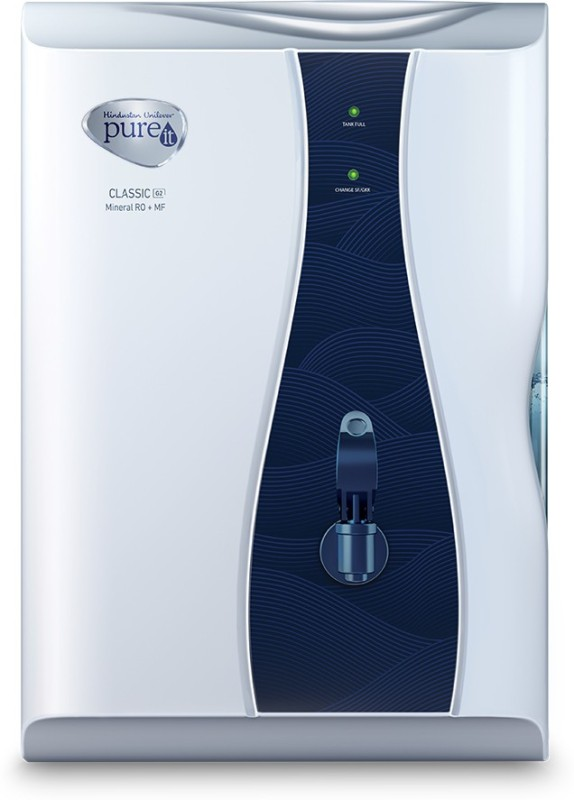 Pureit Classic G2 Mineral 6 L RO + MF Water Purifier(Blue, White)