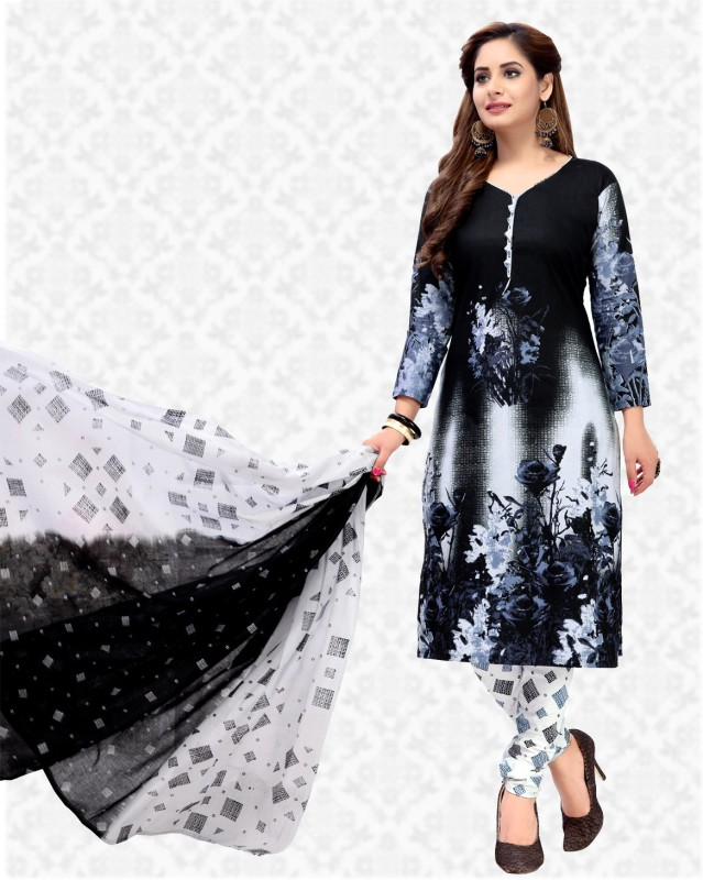 Divastri Synthetic Printed Salwar Suit Material(Semi Stitched)