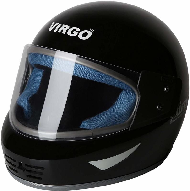 Virgo Airzed Full Face Helmet Motorbike Helmet(BlackGlossyClear)