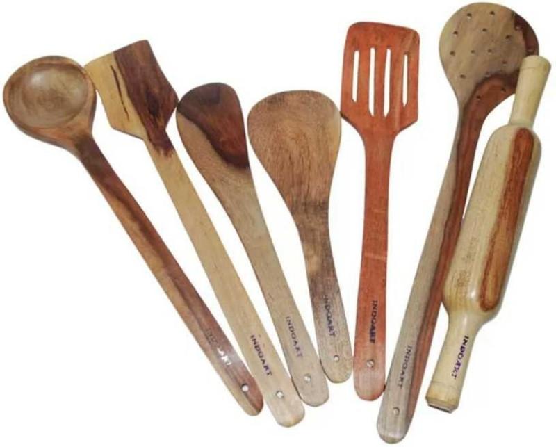 therajasthaniart C-173 Wooden Kitchen Tool Set Kitchen Tool Set