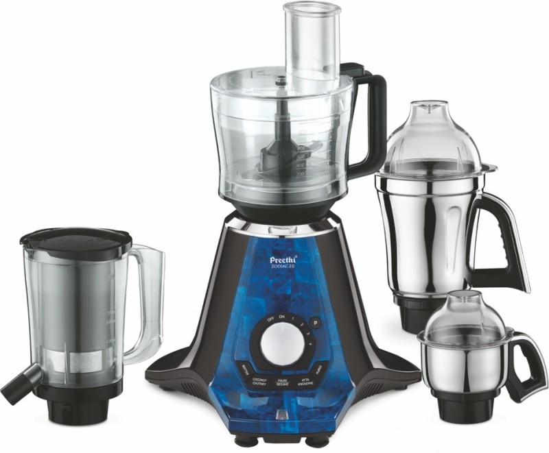 Preethi Zodiac 2.0 MG235 750 W Juicer Mixer Grinder(Black, 4 Jars)