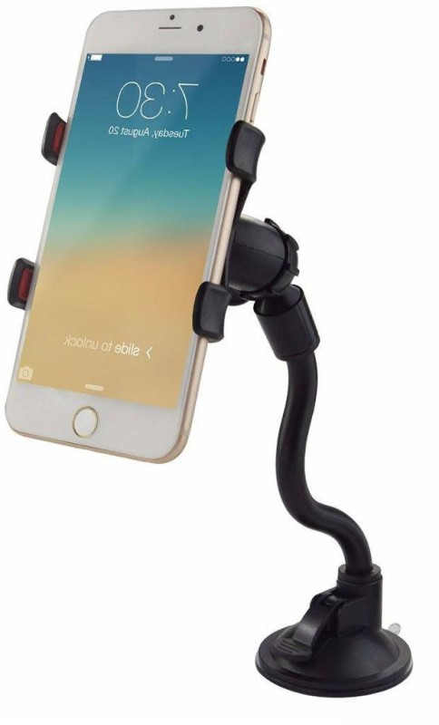 BUY SURETY Universal Compatibility Strong Holding Car/Bike Mobile Soft Tube Holder With Multi Angle 360 Degree Rotating Clip, Window, Windshield,...