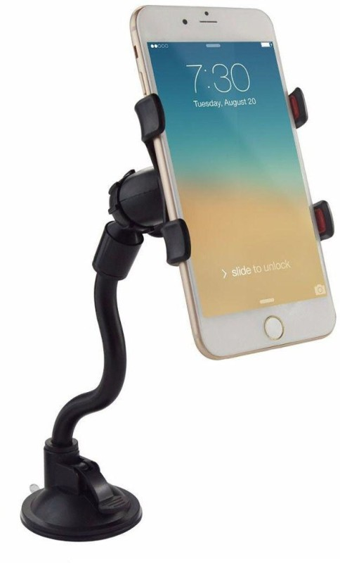 BUY SURETY Universal Compatibility Soft Tube Mobile Holder Car/Bike Mobile Soft Tube Holder With Multi Angle 360 Degree Rotating Clip,...