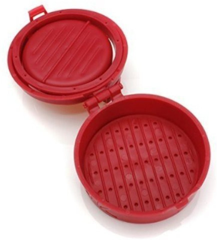 BEGMY Burger Pizza Tikki Maker Mold And Patty Maker Meat Press Machine Kitchen Tools Grill(Red Color)