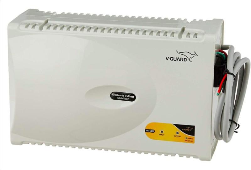 V-Guard VG 400 New for 1.5 Ton AC (170V To 270V) Voltage Stabilizer(Grey)