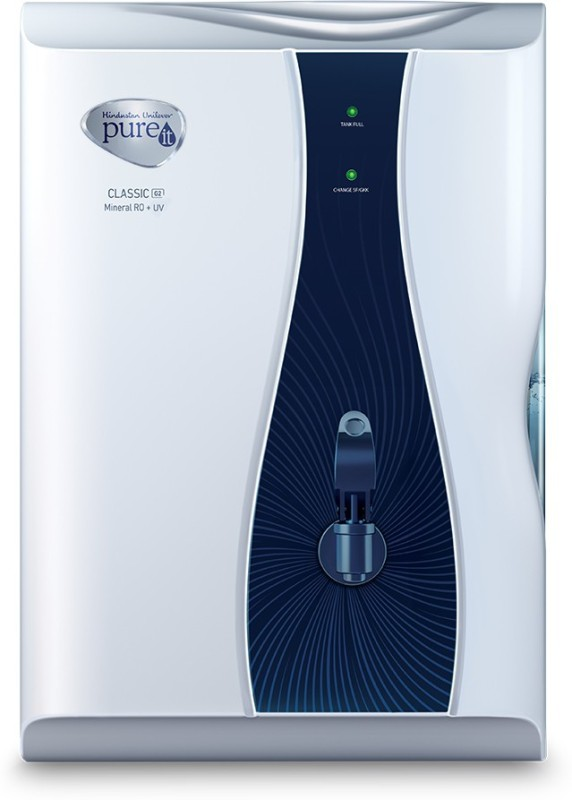 Pureit Classic G2 Mineral 6 L RO + UV Water Purifier(Blue, White)