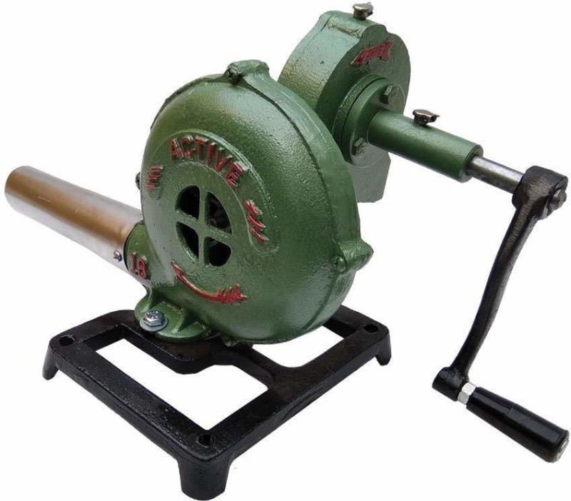 Pretail Outdoor Barbecue Iron Gear Hand Crank Blacksmith Forge Blower, Manual Fan Air Blower(Cordless)